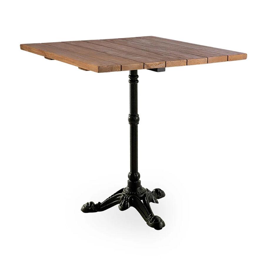 Sika-Design Lyon cafébord 70x70 cm svart/teak