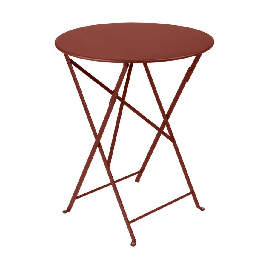 Bistro bord i röd ockra.