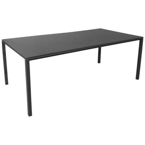 Pure matbord i svart för inomhusbruk.