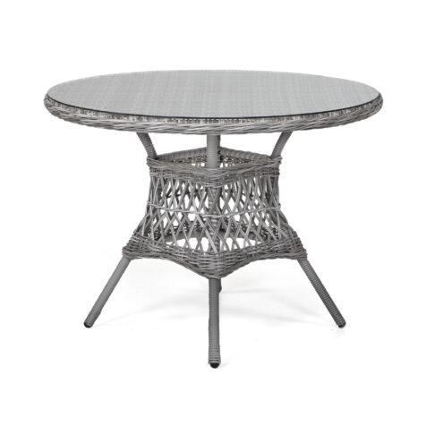 Marienlyst matbord 100 cm i pärlgrå konstrotting.