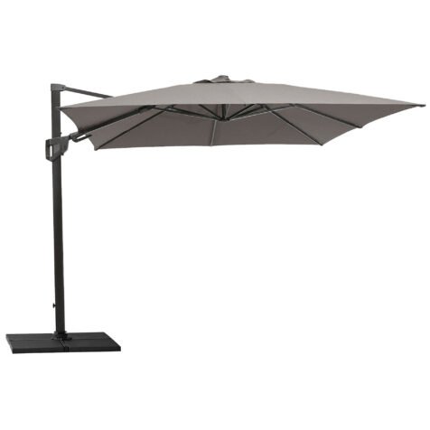 Hyde Luxe parasoll med tilt i färgen taupe.