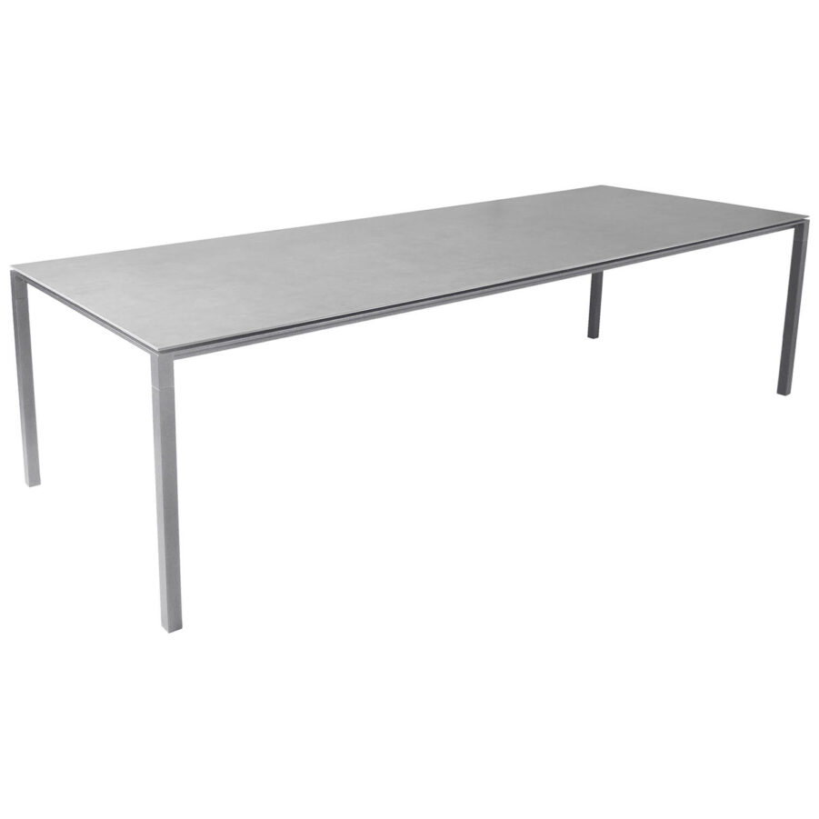 Pure matbord 280 cm med betonggrå skiva.