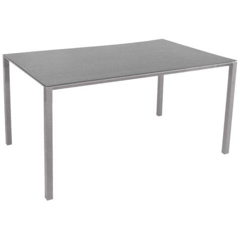 Pure matbord i ljugrått med skiva i betonggrå.
