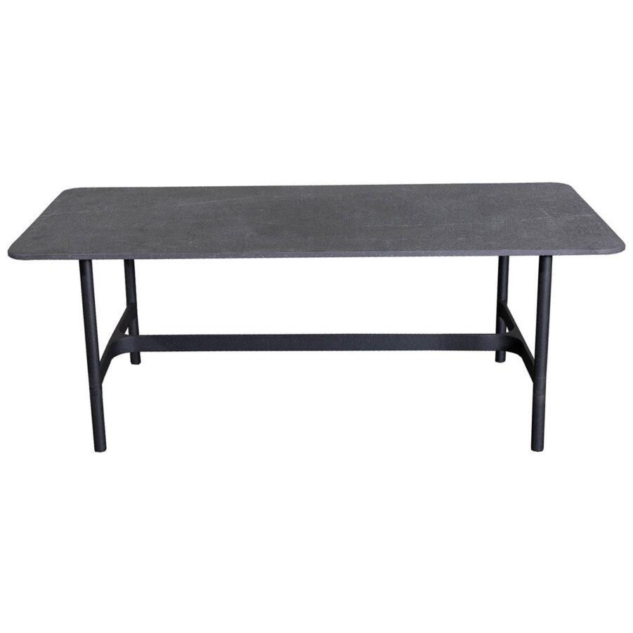 Bild på Twist rektangulärt soffbord i färgen lavagrå.