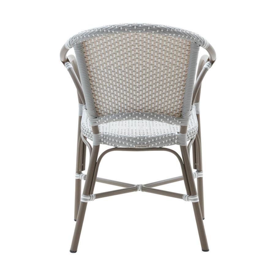 Sika design Valerie Exterior karmstol aluminium taupe/ljusgrå