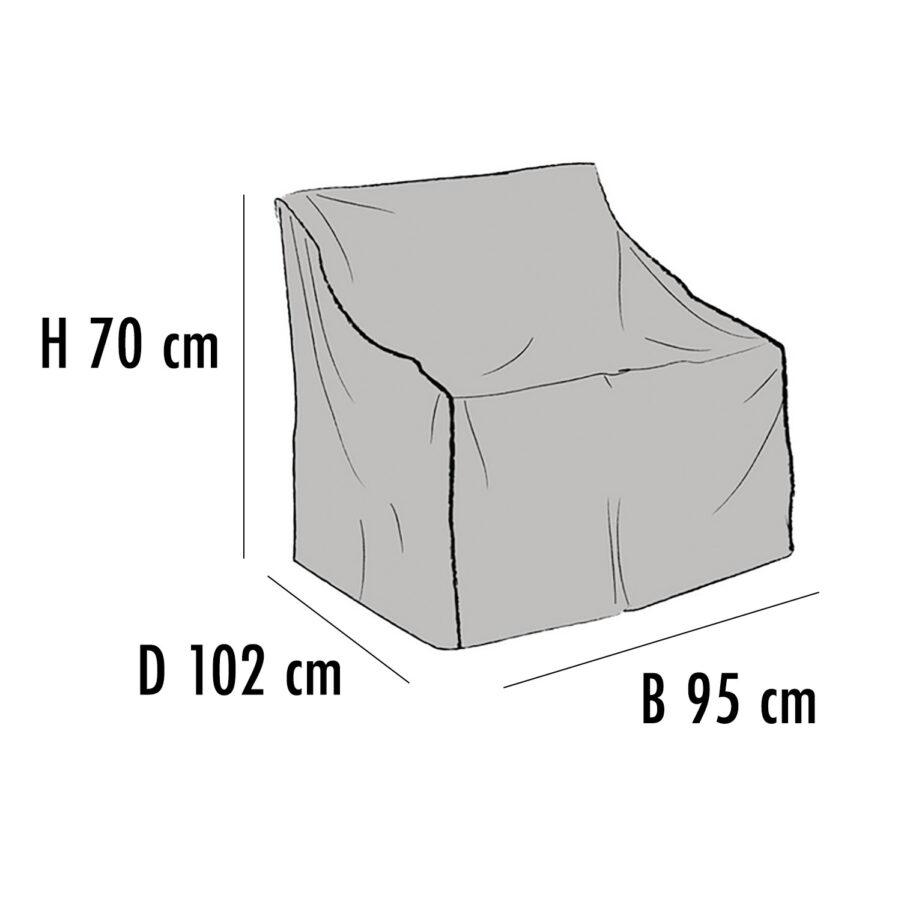 Brafab Möbelskydd för fåtöljer 95x102 cm höjd 70 cm