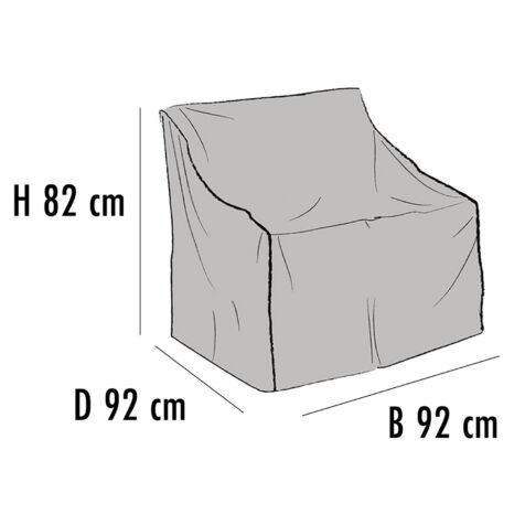 Brafab Möbelskydd för fåtöljer 92x92 cm höjd 82 cm