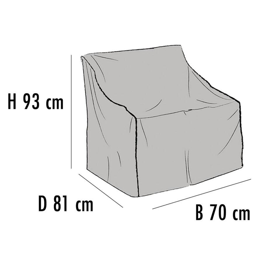 Brafab Möbelskydd för fåtöljer 70x81 cm höjd 93 cm