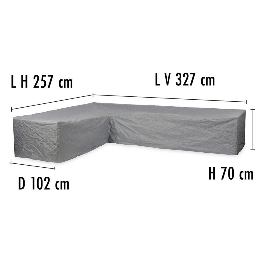 Brafab Hörnsoffskydd 327V/257H höjd 70 cm