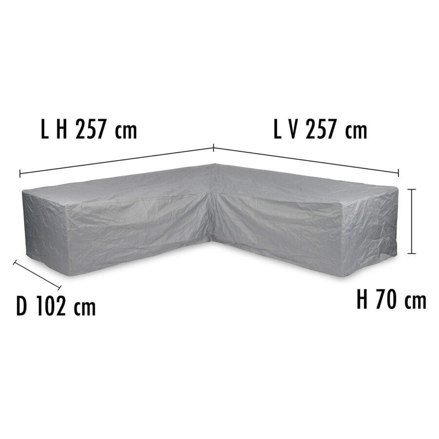 Brafab Hörnsoffskydd 257/257 höjd 70 cm