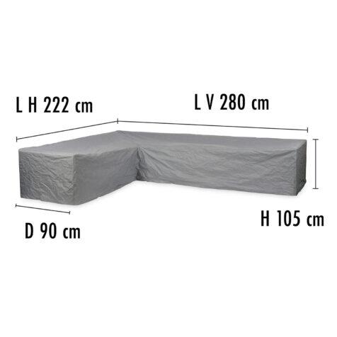 Brafab Hörnsoffskydd 280V/222H höjd 105 cm