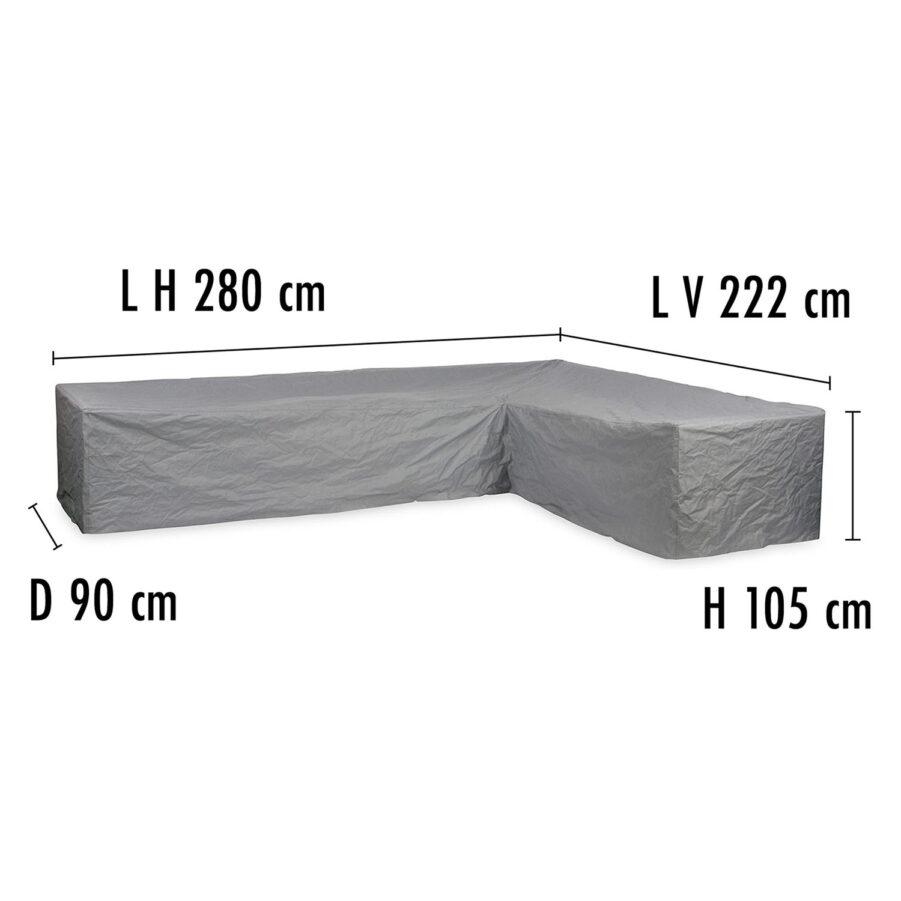 Brafab Hörnsoffskydd 222V/280H höjd 105 cm