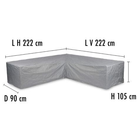 Brafab Hörnsoffskydd 222/222 höjd 105 cm