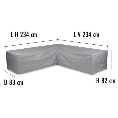 Brafab Hörnsoffskydd 234/234 höjd 82 cm