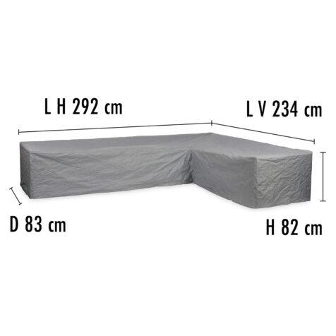 Brafab Hörnsoffskydd 234V/292H höjd 82 cm