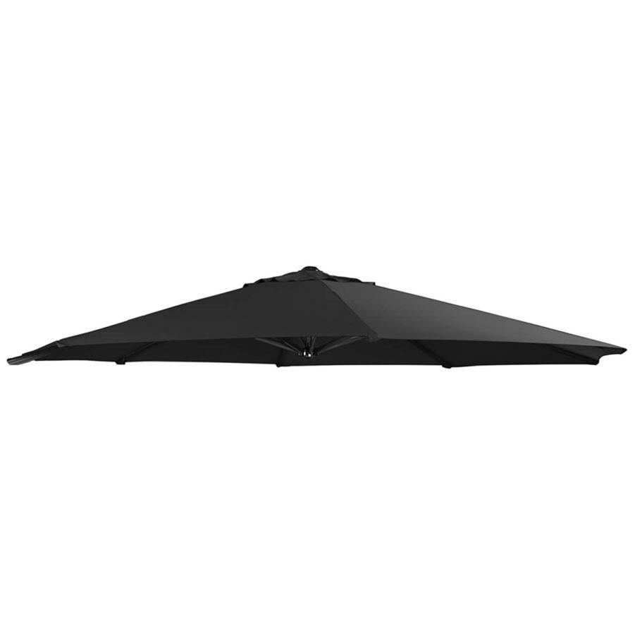 Side Winder parasollduk i svart.
