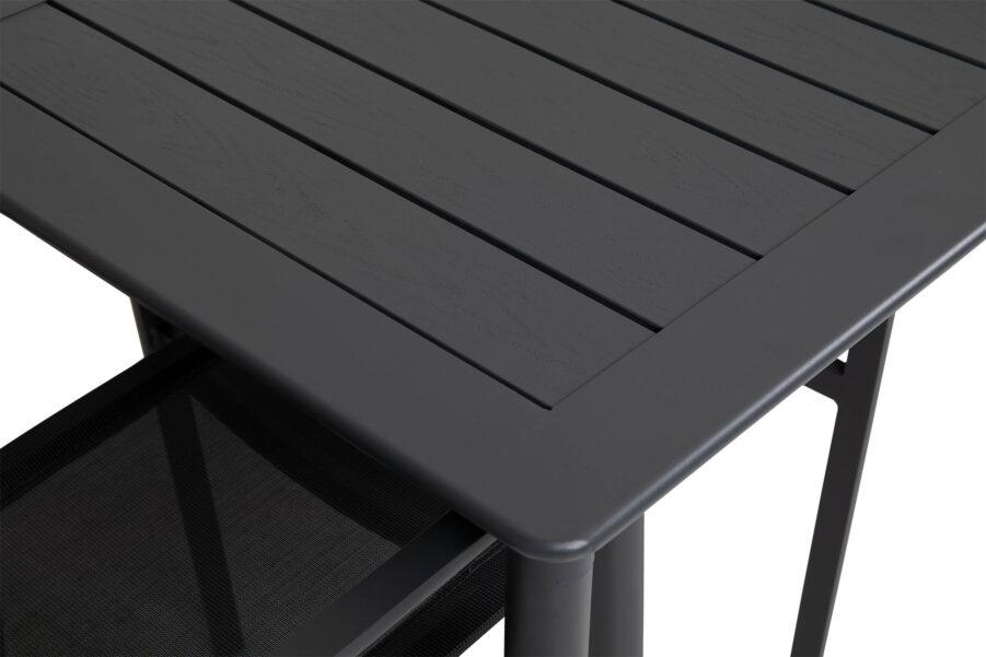 Närbild på Nimes bord i antracitgrå.