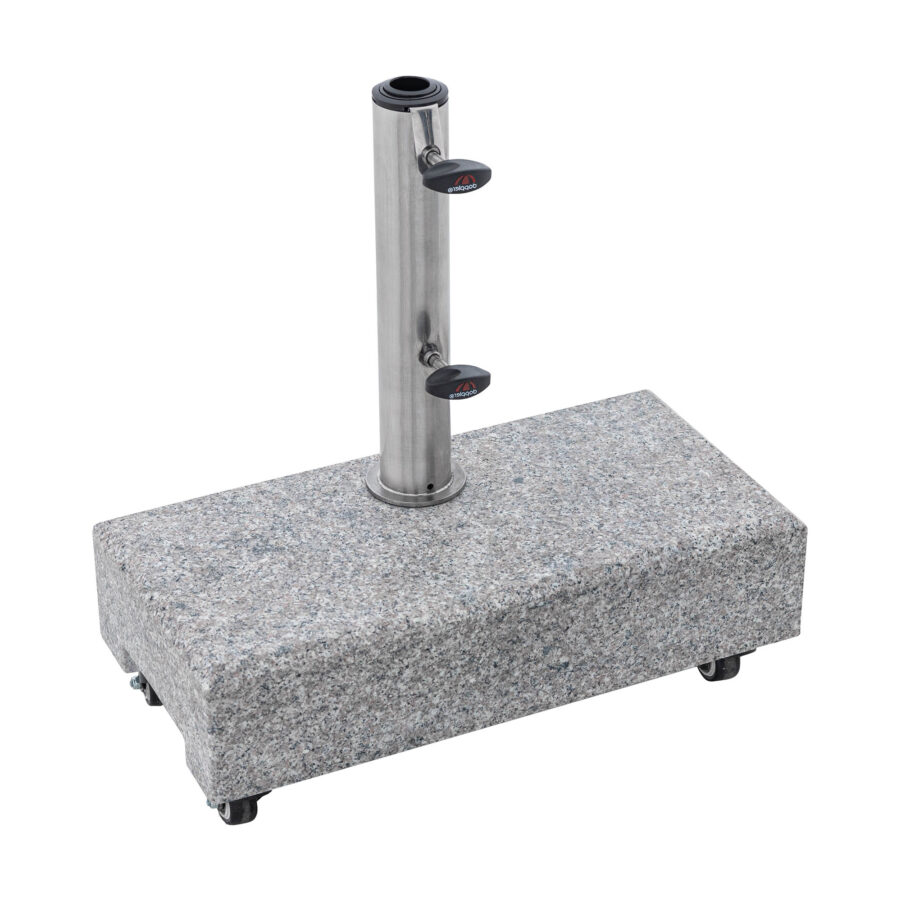 Balkongparasollfot i granit på hjul.