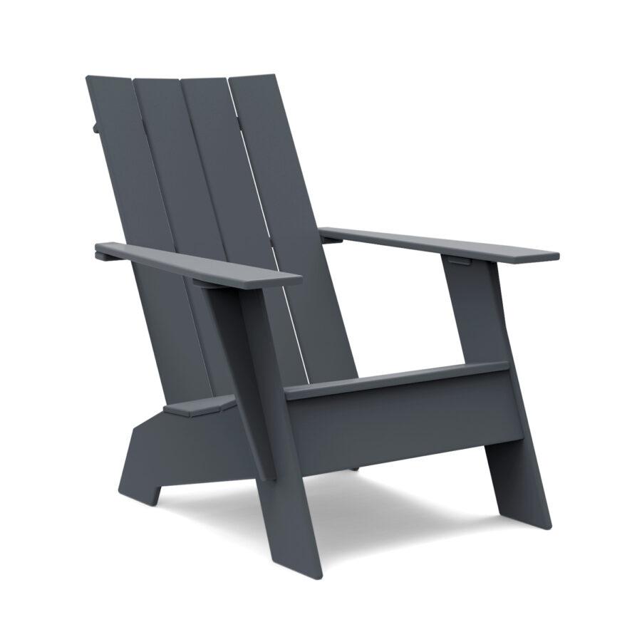 Loll Designs Adirondackstol 4 slat mörkgrå