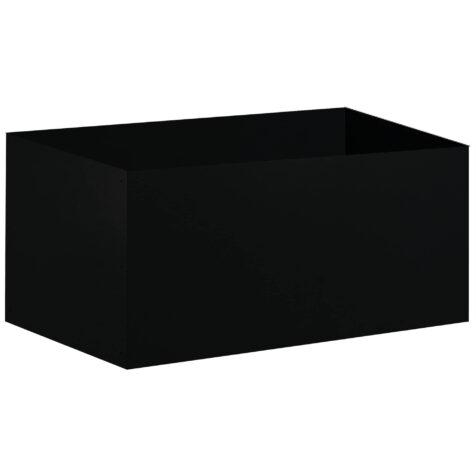 Design of odlingslåda i svart.