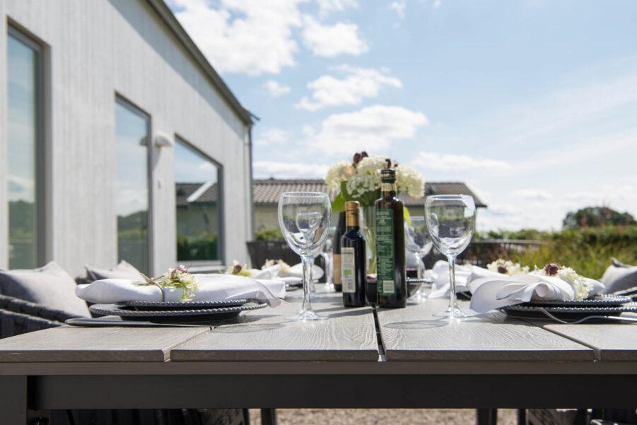 Hillerstorp Nydala bord svart/grå 220x96 cm
