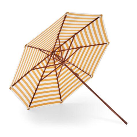 Messina parasoll i gulrandigt.