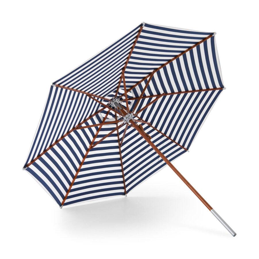 Atlantis parasoll 330 cm i blårandigt.