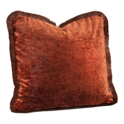 Artwood Garda Velvet kuddfodral med frans rosso