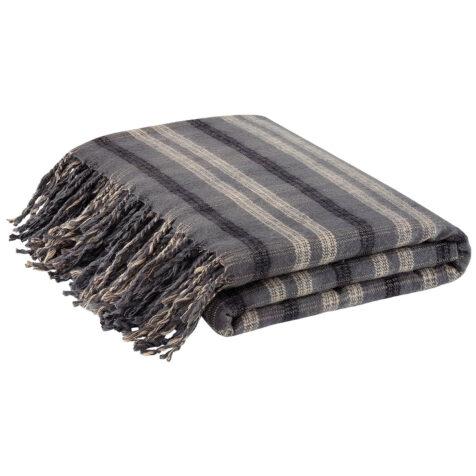 Artwood Quadrato pläd svart/grå 130x180 cm