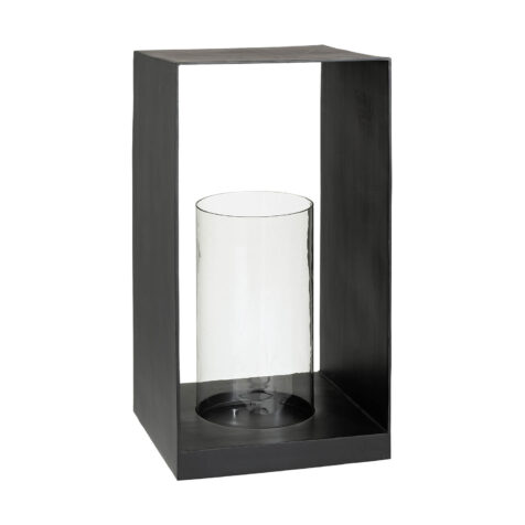Artwood Mancini ljuslykta svart 35x35x67 cm