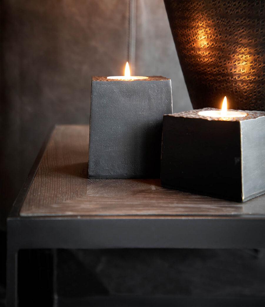 Artwood Tealight värmeljusstake antique bronze hög