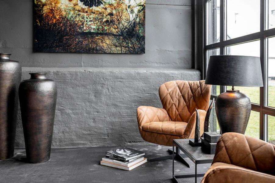 Artwood Jade snurrfåtölj nubuck brown leather