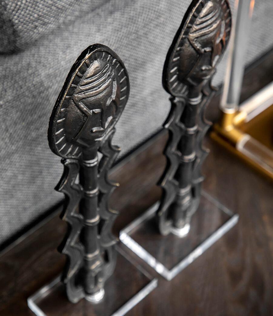 Artwood Yoruba dekoration antique bronze