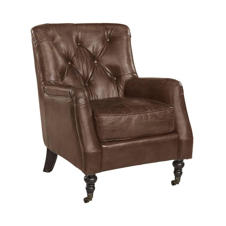 Artwood Dessau fåtölj chocolate brown leather