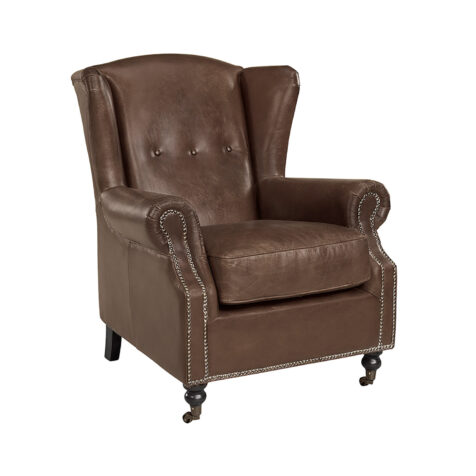 Artwood Goslar fåtölj chocolate brown leather