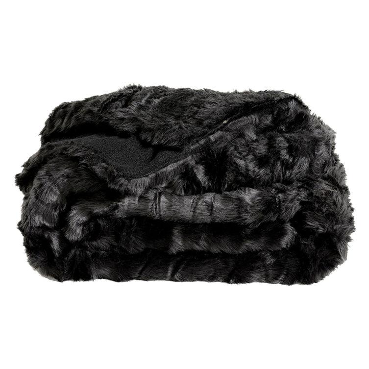 Artwood Leia Black pläd 150x260 cm