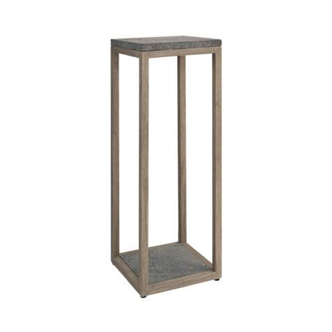 Artwood Torre piedestal charcoal teak/lavasten 100 cm