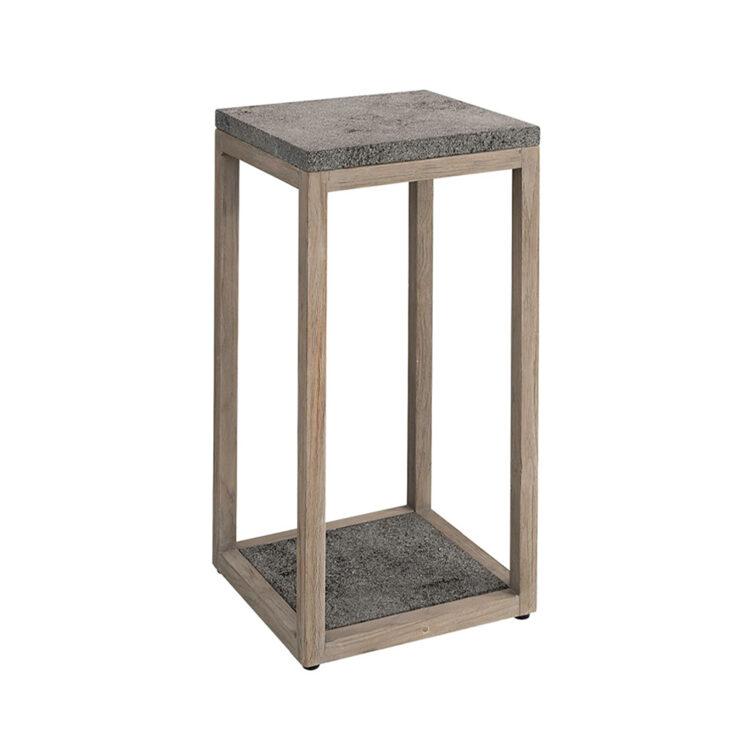Artwood Torre piedestal charcoal teak/lavasten 70 cm