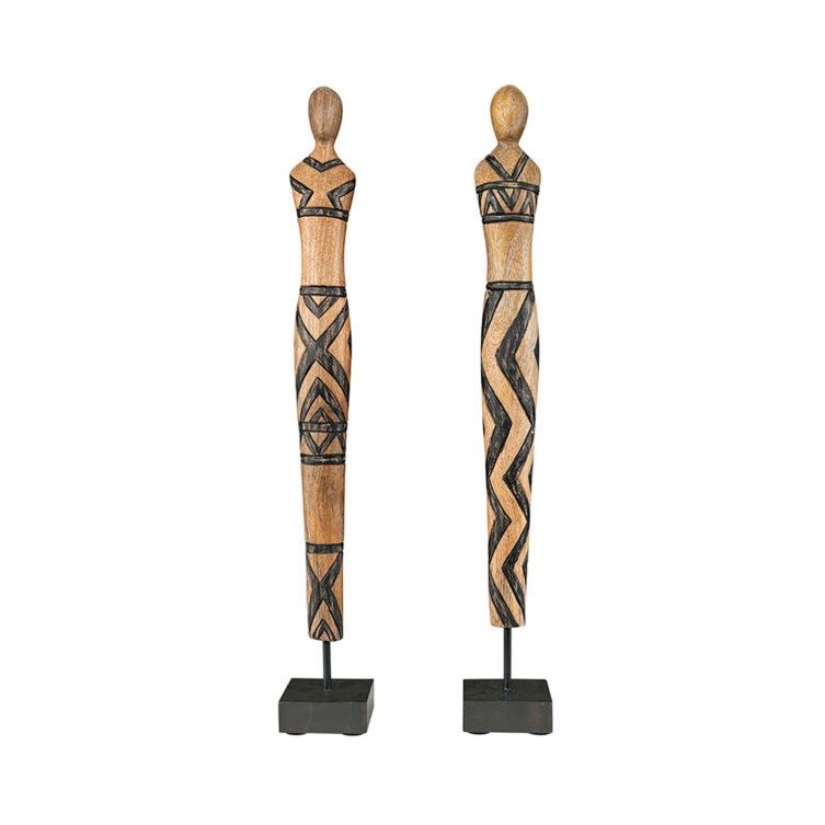 Artwood Tribal Ladies dekoration 2-set