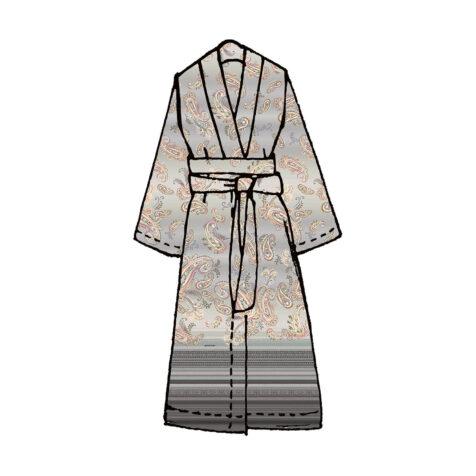 Tosca kimono i lila.