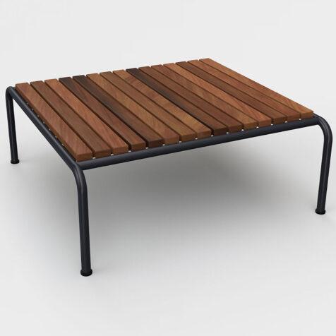Avon soffbord i stål och värmebehandlad ask.