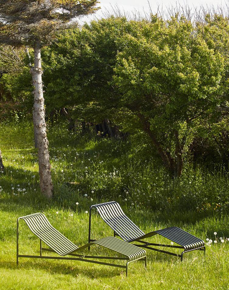 Hay Palissade solsäng antracit och olivgörn